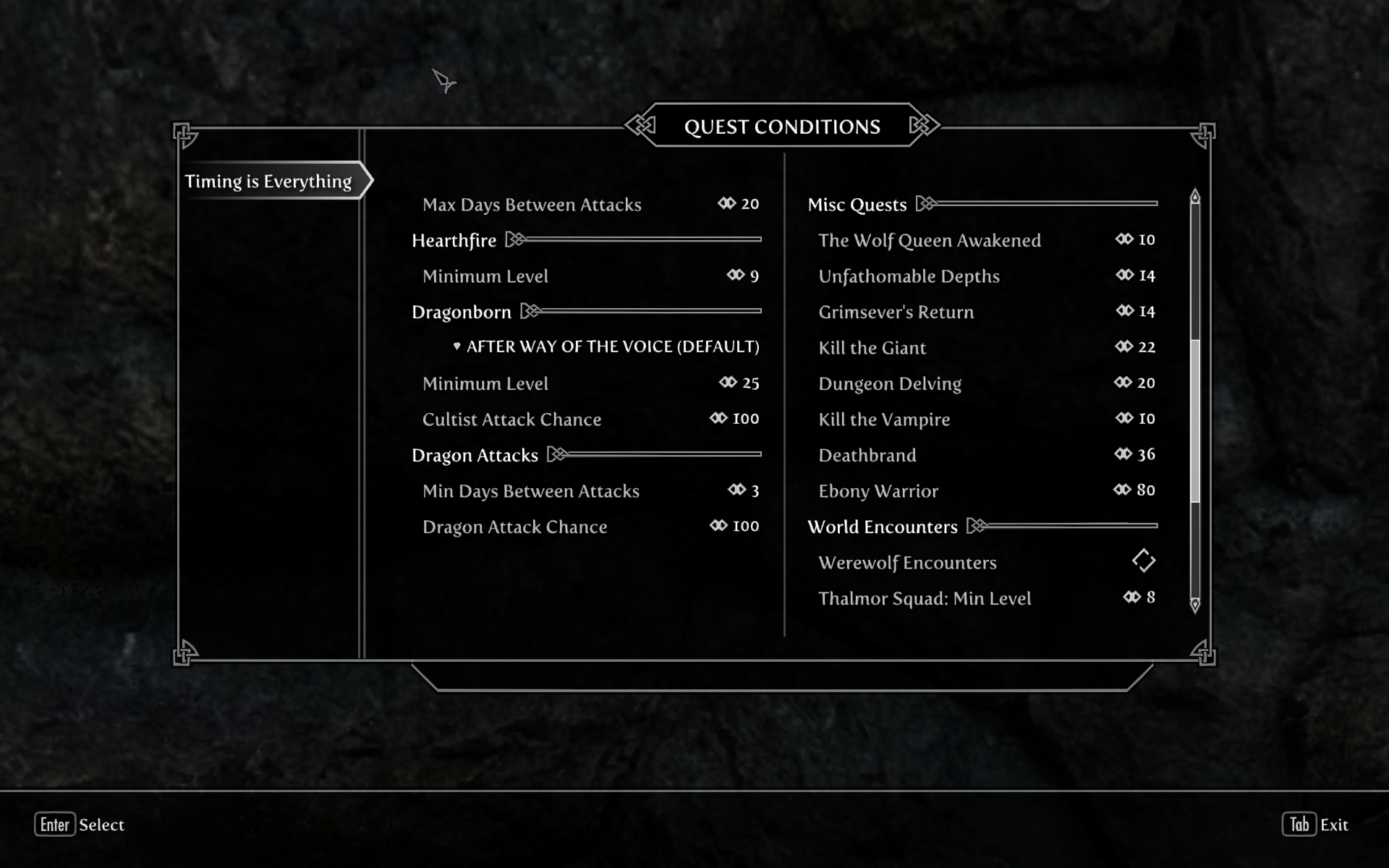 Quest Conditions 2