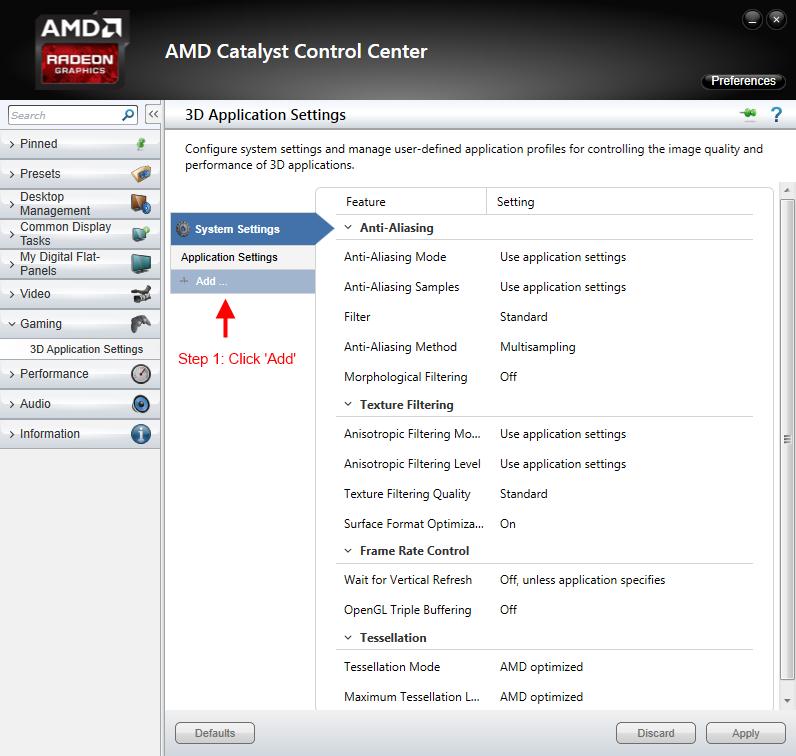Guide Amd Catalyst Control Center S T E P Project Wiki