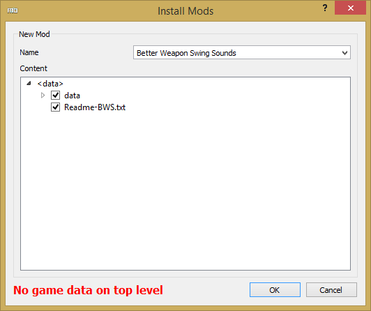 No game data on top level