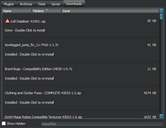 Neither Compact Download Interface or Download Meta Information.